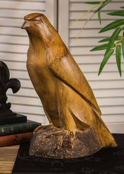 Wood Finish Eagle Sculpture, Set of 2