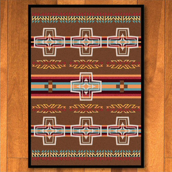 5' x 8' Canyon Cross Sunset Southwest Rectangle Rug