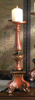 Birch Finish Tripod Pillar Candle Holder