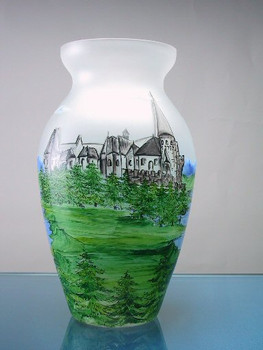 Castle Bran Crystal Vase Limited to 100 Pieces
