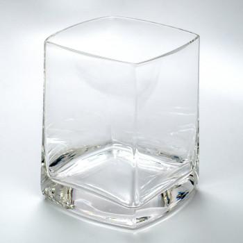 Quadrat Romanian Crystal Water Glasses, Set of 4
