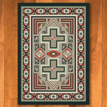 5' x 8' Sawtooth Raincloud Southwest Rectangle Rug