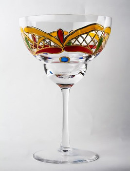 Orleans Romanian Crystal Margarita Glasses, Set of 4