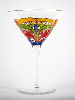 Orleans Romanian Crystal Martini Glasses, Set of 4