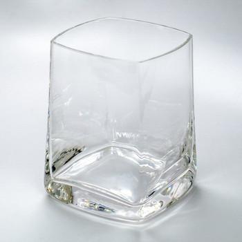 Quadrat Romanian Crystal Red Wine Glasses, Set of 4
