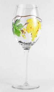 Dionysus Romanian Crystal White Zinfandel Wine Glasses, Set of 4