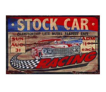 Custom Stock Car Racing Vintage Style Metal Sign