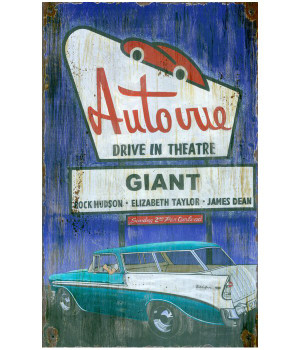 Custom Drive In Vintage Style Metal Sign