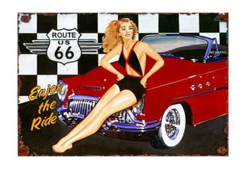 Custom Route 66 Vintage Style Metal Sign