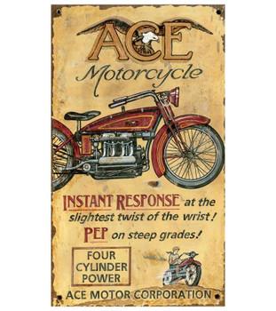 Custom Ace Motorcycle Vintage Style Metal Sign