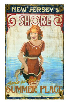 Custom New Jersey Shore Vintage Style Metal Sign