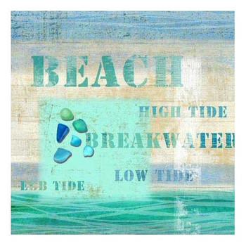 Multiple Sayings Beach Vintage Style Metal Sign