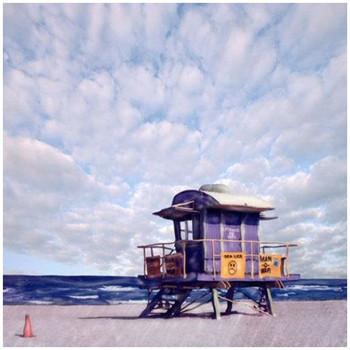 Custom Miami Lifeguard Stand Vintage Style Metal Sign