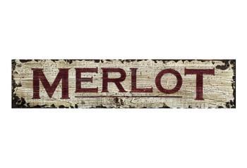 Custom Merlot Vintage Style Metal Sign