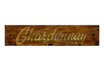 Custom Chardonnay Vintage Style Metal Sign