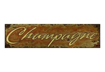 Custom Champagne Vintage Style Metal Sign