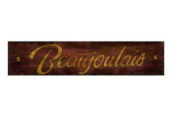 Custom Beaujolais Vintage Style Metal Sign