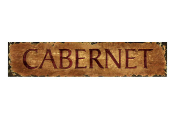 Custom Cabernet Vintage Style Metal Sign
