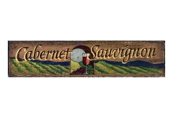 Custom Cabernet Sauvignon Vintage Style Metal Sign