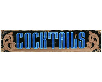 Custom Cocktails Vintage Style Metal Sign