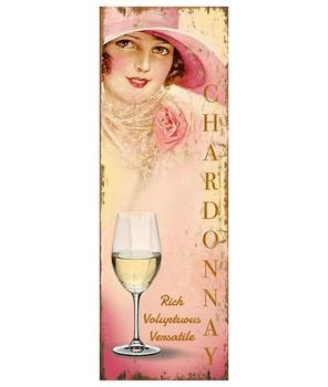 Custom Miss Chardonnay Wine Vintage Style Metal Sign