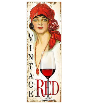 Custom Miss Red Wine Vintage Style Metal Sign