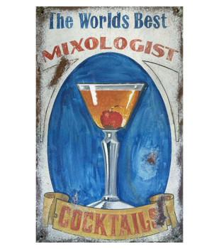 Custom Mixologist Cocktails Vintage Style Metal Sign