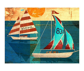 Custom Sailing Vintage Style Metal Sign