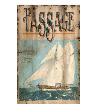 Custom Passage Sailboat Vintage Style Metal Sign