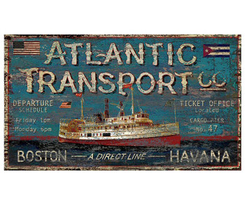 Custom Atlantic Transport Co Ship Vintage Style Metal Sign