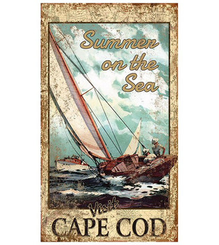 Custom Visit Cape Cod Boating Vintage Style Metal Sign