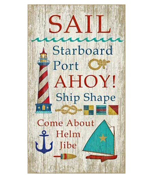 Custom Multiple Sayings Sail Vintage Style Metal Sign