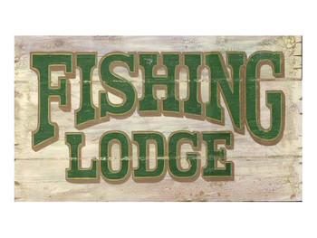 Custom Fishing Lodge Vintage Style Metal Sign