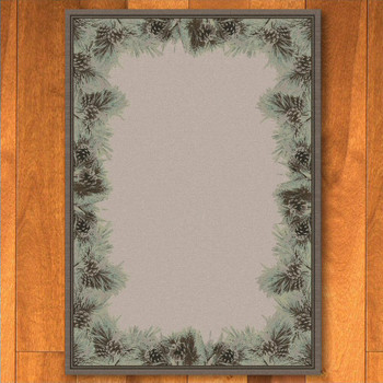 5' x 8' Pins and Needles Natural Pine Cones Nature Rectangle Rug