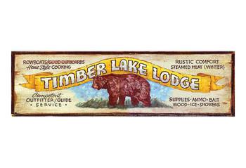 Custom Timber Lake Lodge Vintage Style Metal Sign