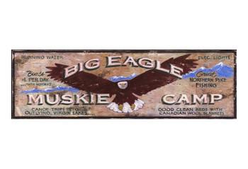 Custom Big Eagle Muskie Camp Vintage Style Metal Sign