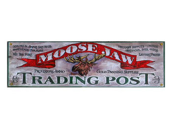 Custom Moose Jaw Trading Post Vintage Style Metal Sign