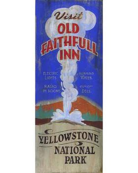 Custom Old Faithful Inn Vintage Style Metal Sign