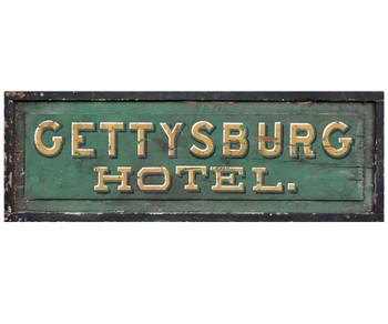Custom Gettysburg Hotel Vintage Style Metal Sign