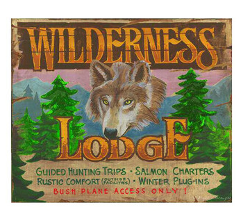 Custom Wilderness Lodge Vintage Style Metal Sign