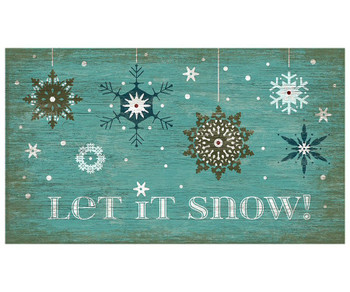 Custom Snowflakes Let It Snow Vintage Style Metal Sign