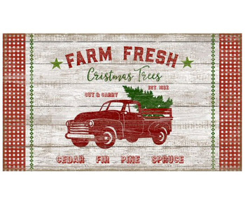 Custom Farm Fresh Christmas Trees Vintage Style Metal Sign