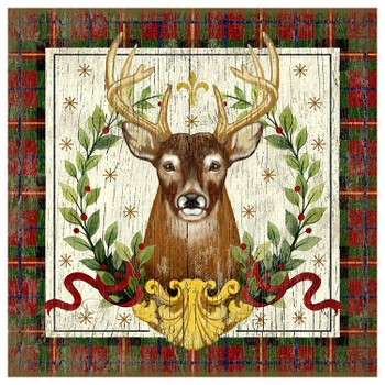 Christmas Stag Deer Vintage Style Metal Sign