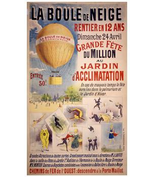 Custom La Boule De Neige French Circus Vintage Style Metal Sign