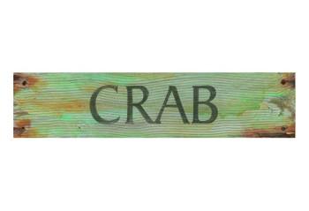 Custom Crab Vintage Style Metal Sign