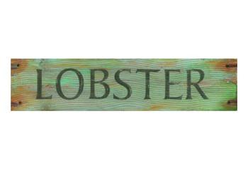 Custom Lobster Word Vintage Style Metal Sign
