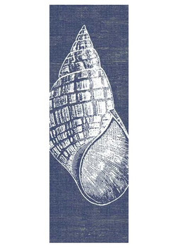 Seashell with Denim Background Vintage Style Metal Sign