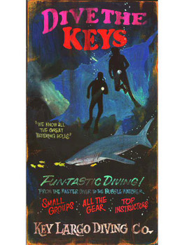 Custom Dive the Keys Vintage Style Metal Sign