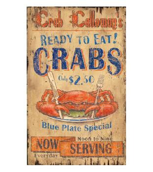Custom Crab Calloway Vintage Style Metal Sign