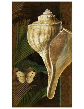 Trinidad 2 Seashell and Butterfly Vintage Style Metal Sign